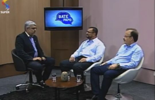 Nosso presidente no Programa: Bate Papo, transmitido pela TV Rede Super